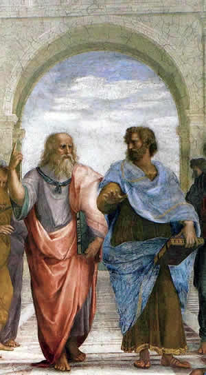Time and Space - A section of Raphael's The School of Athens