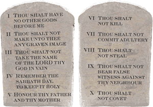 Western Religions - The Ten Commandments are the model for both Jewish and Christian moral thought.