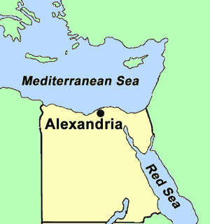 Egypt | Map of Alexandria, Egypt