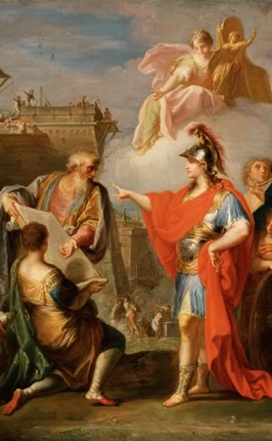 Placido Costanzi's Alexander the Great Founding Alexandria (c. 1737)