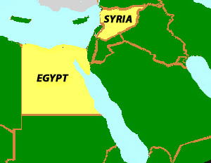 Map of the United Arab Republic