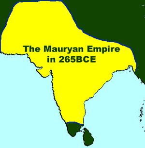 Map of the Mauryan Empire