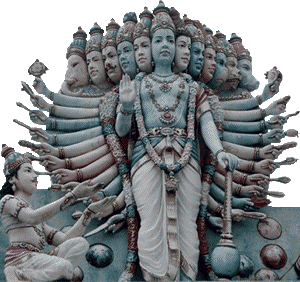 Hinduism - Vishnu is the preserver of the universe who protects us from evil.