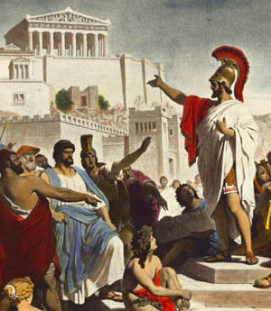 Athens is widely referred to as the birthplace of democracy.