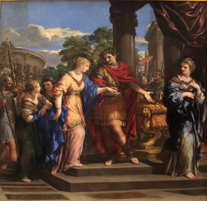 Caesar giving Cleopatra the Throne of Egypt-Pietro de Cortone