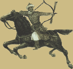 The Middle Ages - The Huns - horseman