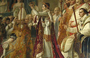 Napoleon crowned himself in 1844