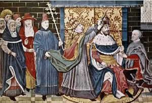 The Middle Ages - Pope Leo crowns Charlemagne
