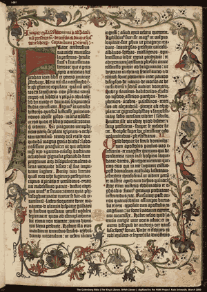 The Renaissance - A page from the Gutenberg Bible