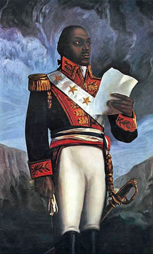 Haiti - Francois Toussaint L'ouverture was the leader of the Haitian Revolution.
