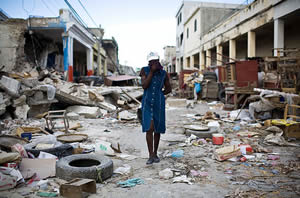 Street in Haiti after the disasterous 2010 earthquake.