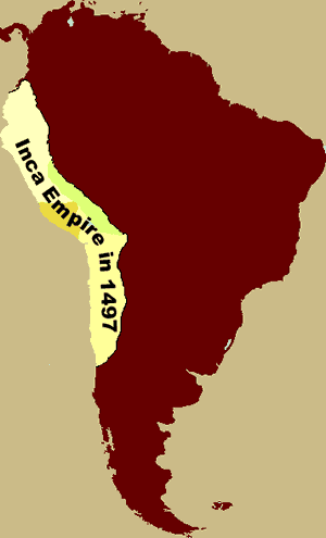 The Incas - Map of the Inca Empire in 1491