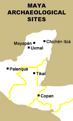 The Maya - Map of Maya archaeological sites